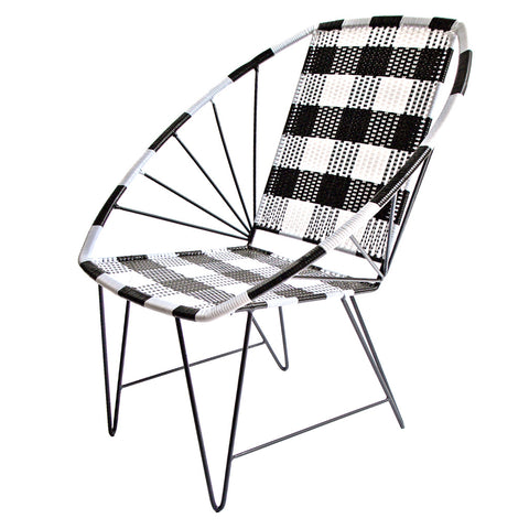 *WOVEN CHAIR CHECK* Handwoven metal chair