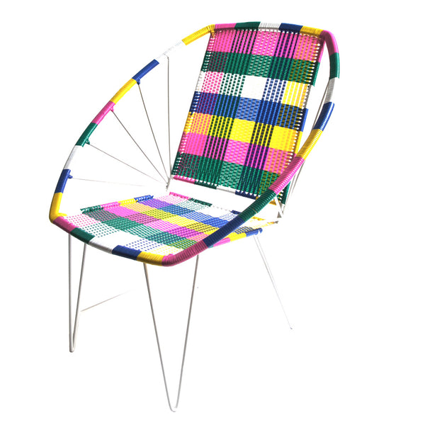 *WOVEN CHAIR COLOUR* Handwoven metal chair - Lili Pepper