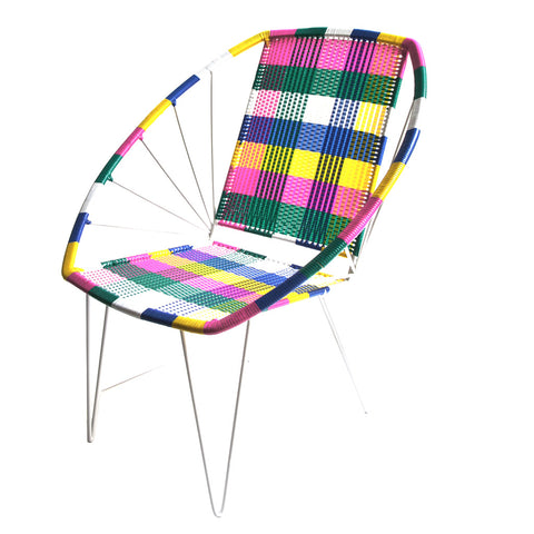 *WOVEN CHAIR COLOUR* Handwoven metal chair