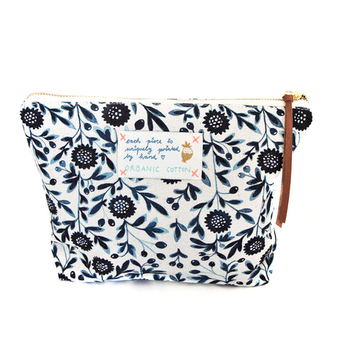 *My Blue Flowers* Organic Cotton Pouch