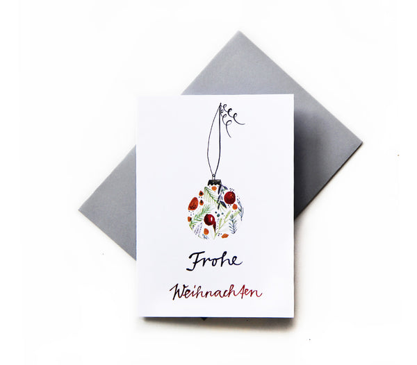 *Frohe Weihnachten* Christmas Greeting Card - Lili Pepper