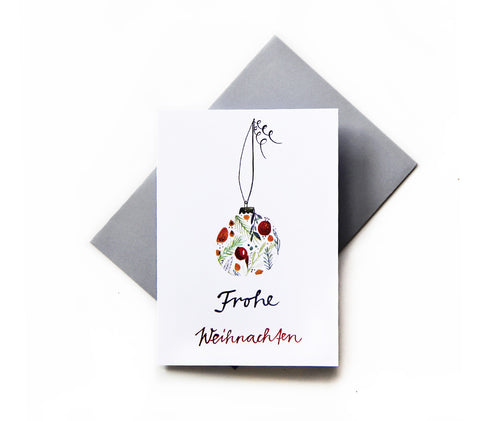 *Frohe Weihnachten* Christmas Greeting Card