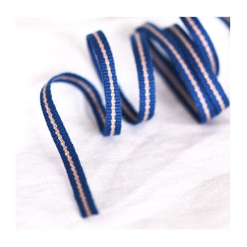 *Blue Rose* Cotton ribbon tape