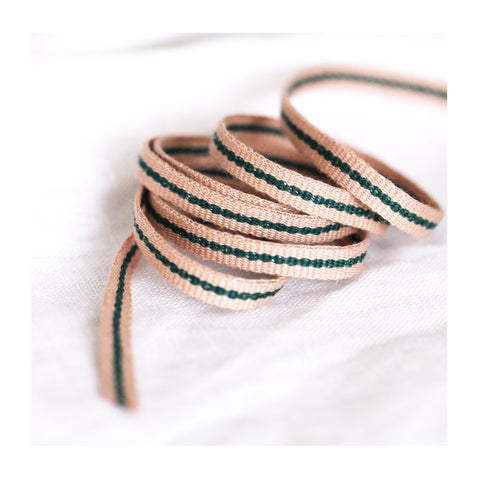 *Rose Green* Cotton ribbon tape