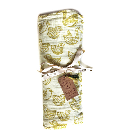 *SINGING BIRDS* Baby Swaddle blanket
