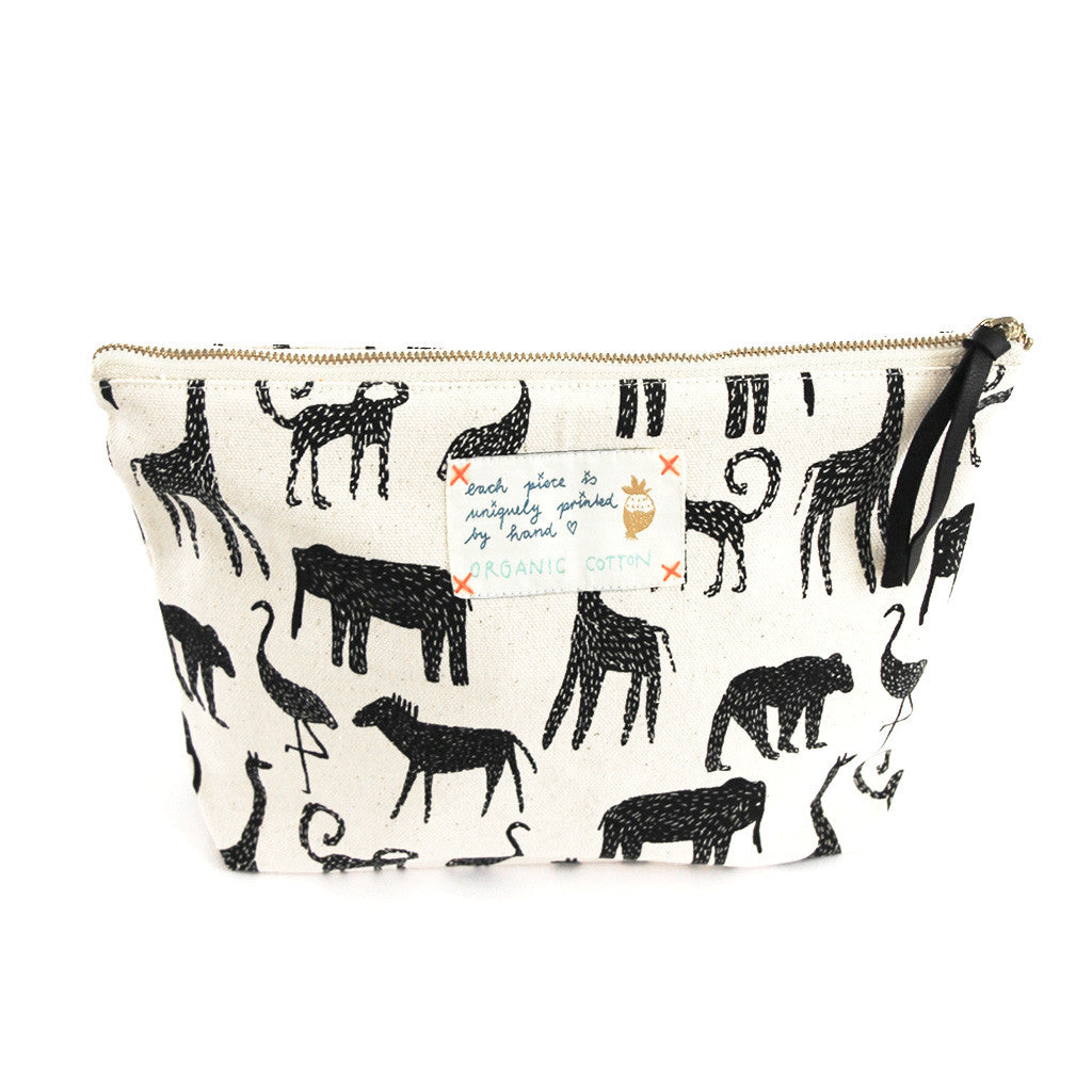 *My Zoo* Organic Cotton Pouch - Lili Pepper