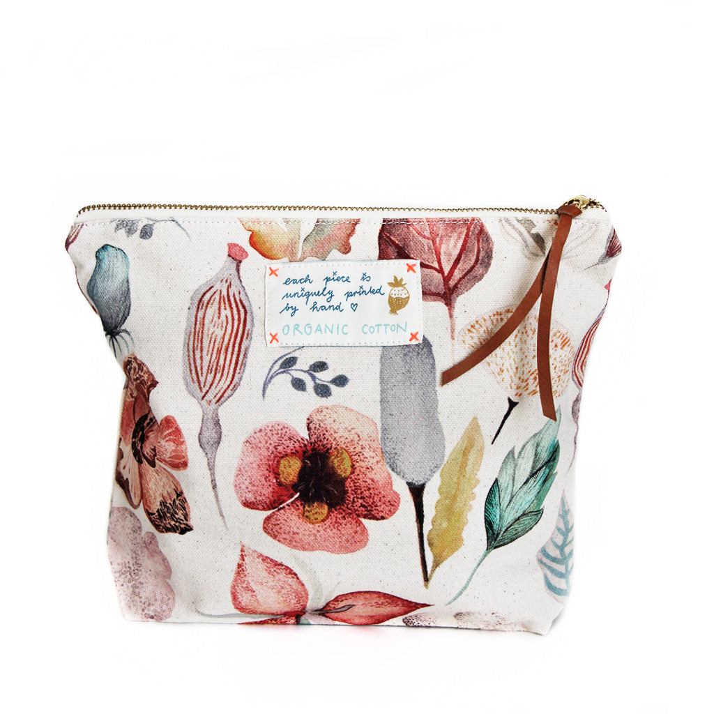 *My Secret Garden* Organic Cotton Pouch - Lili Pepper
