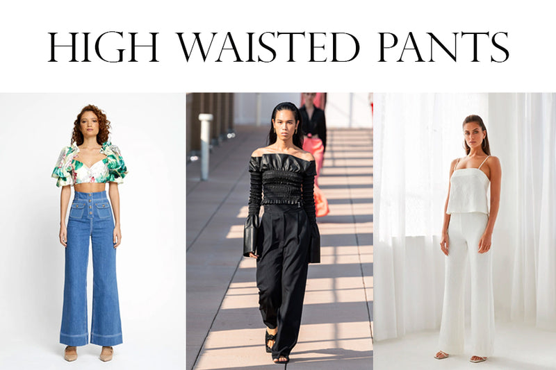 How to look tall: High Waisted Pants