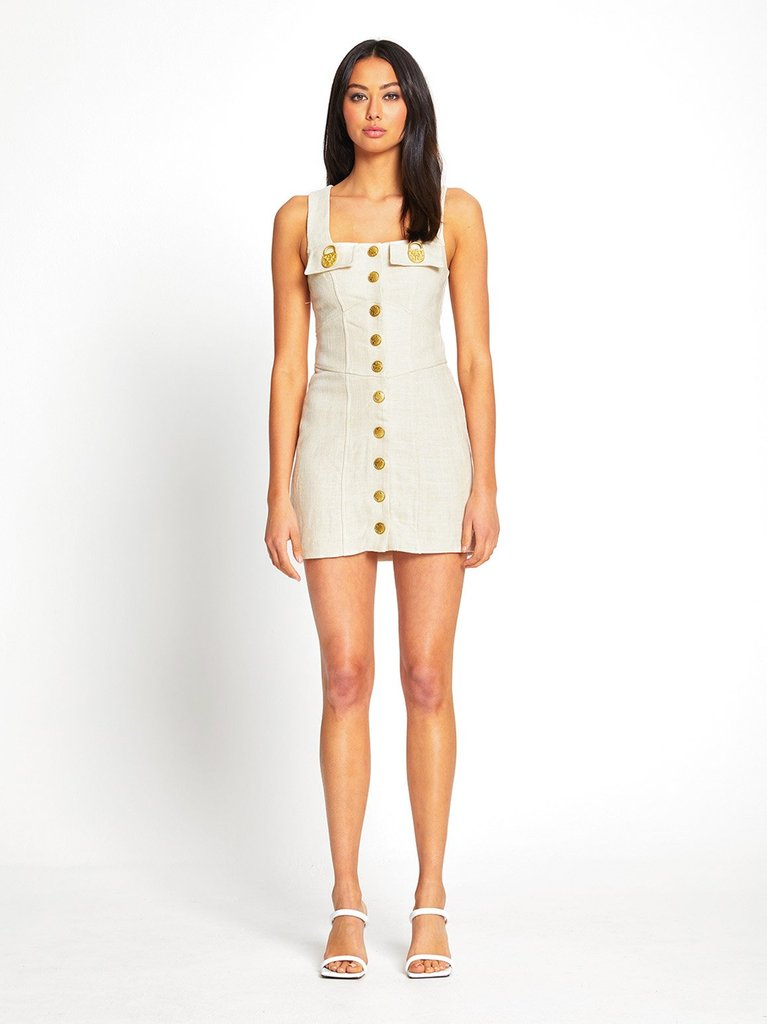 Queenie Mini Dress - Creme