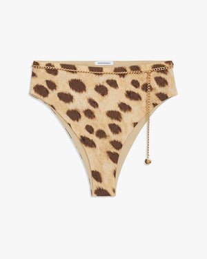 Belted Emily Bottom - Leopard Tan