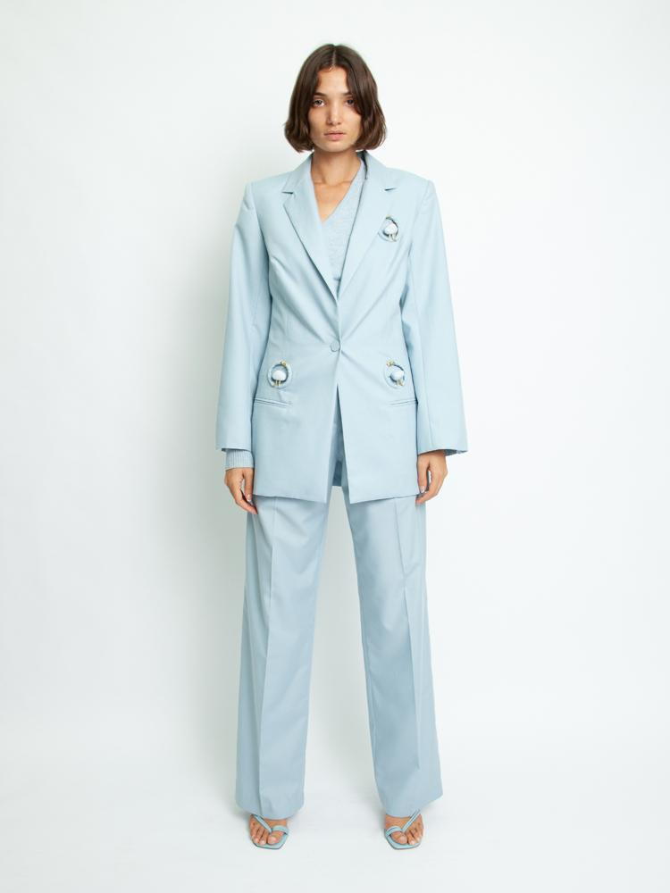 Quartz Blazer - Dusty Blue