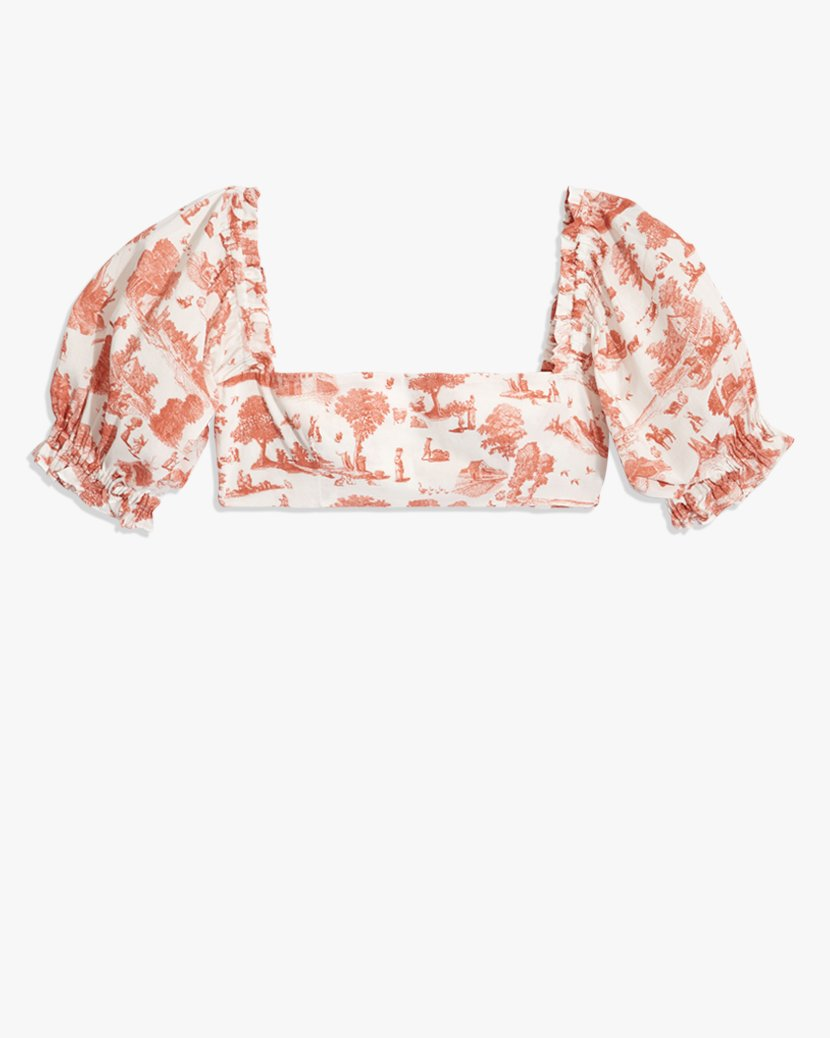 Coco Top - Vintage Toile Terracotta