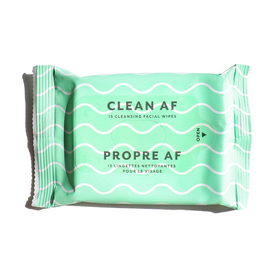 Clean AF Facial Cleansing Wipes - Single pack