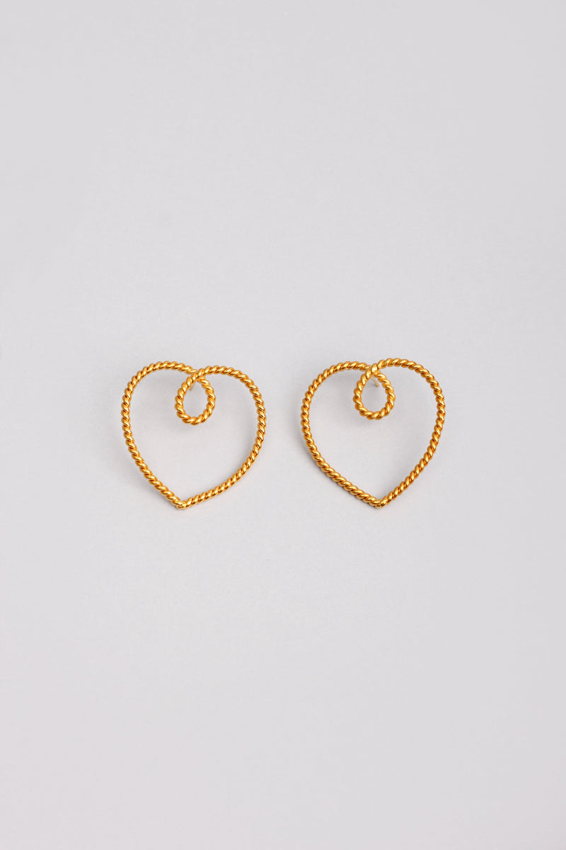 The Mini Heart Earrings
