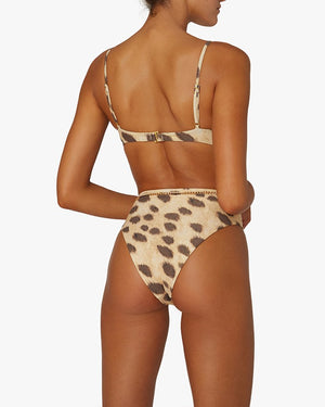 Vintage Bra Top - Leopard Tan