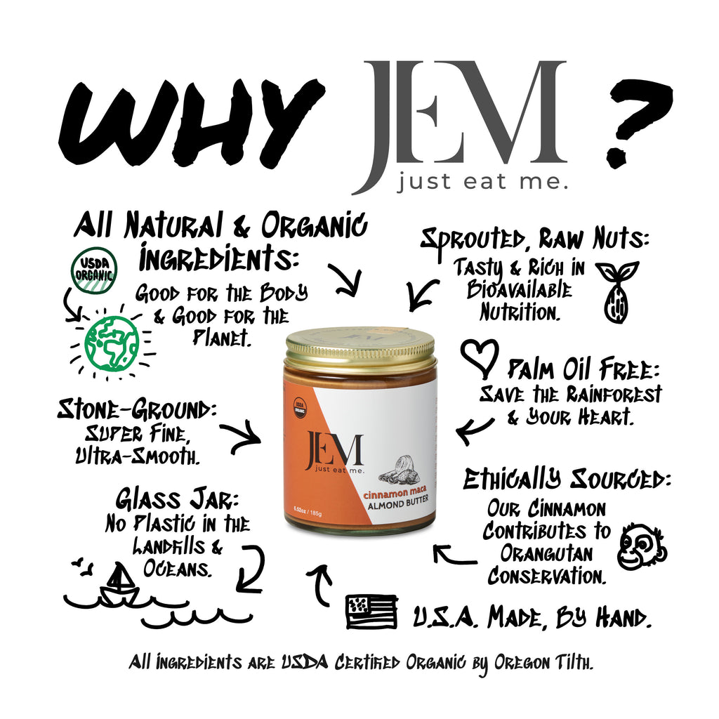 JEM Organics Is Better Option - A Better Nut Butter
