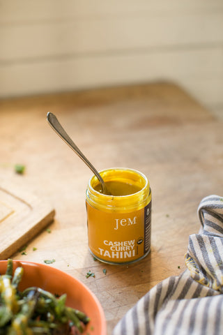 cashew curry tahini jem raw organics nut almond butter
