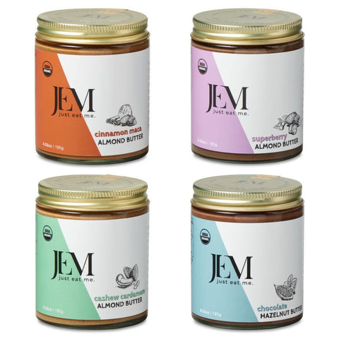 Four Pack of 6 oz Jem Nut Butters