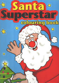 Santa Superstar Colouring Book