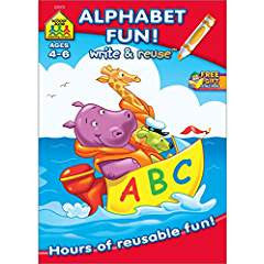 Alphabet Fun Write and Reuse Workbook Ages 4-6O