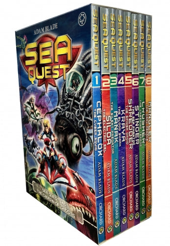 Sea Quest Series 1 and 2 Collection Adam Blade 8 Books Box Set (Book 1-8)