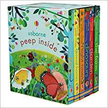 Usborne Peep Inside Collection 6 Books Box Set