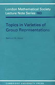 LMS: 163 Topics in Varieties Group (London Mathematical Society Lecture Note Series)