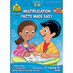 School Zone Multiplication Facts Made Easy Grades 3-4