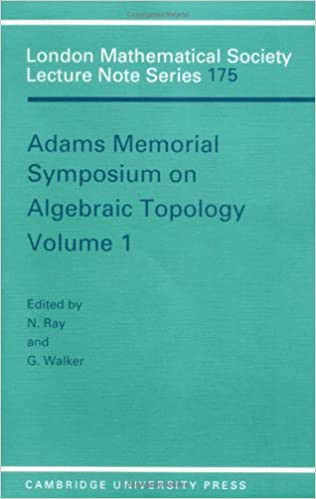 LMS: 175 Adams Memorial Alge Vol 1 (London Mathematical Society Lecture Note Series)
