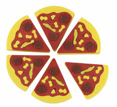 Novelty Pizza Shaped Eraser