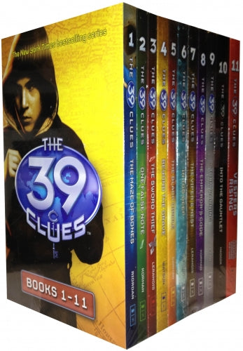 The 39 Clues Series 1 - 11 Books Collection Box Set Pack plus 66 Digital Game Cards by Rick Riordan