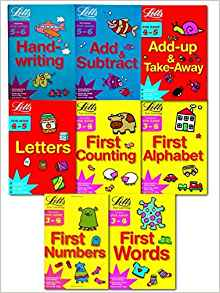 Letts Fun Learning (3-5 Years) Collection 8 Books Set