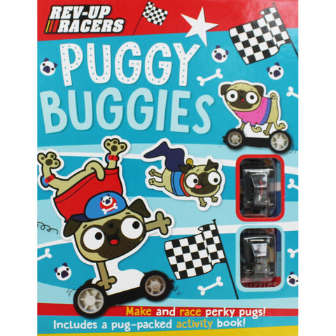 Make Believe Ideas Puggy Buggies Rev-Up Racers, Excellent