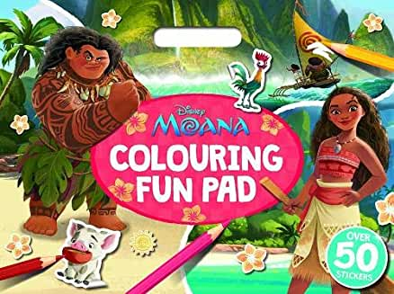 Disney Moana Colouring Pad and Stickers