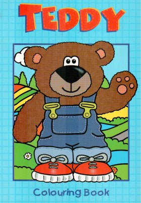 Teddy Colouring Book Blue
