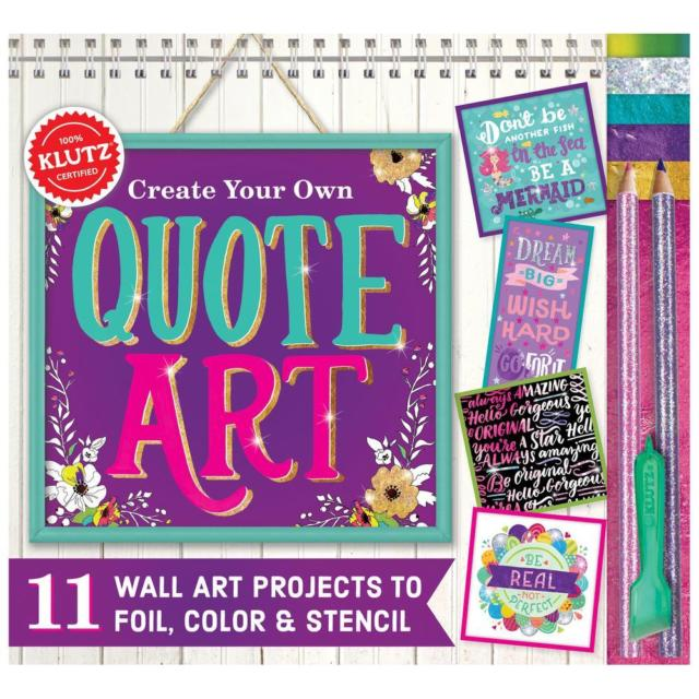 Create Your Own Quote Art Book Kit-