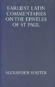 Earliest Latin Commentaries On the Epistles of St Paul