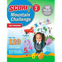SCORE! Mountain Challenge Math Workbook, Grade 2