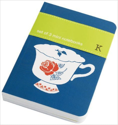 Set of 3 Mini Notebooks: Tea Time