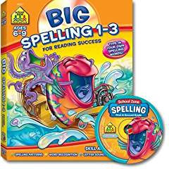 Big Spelling 1-3 for Reading Success School Zone Interactive Ages 6-9