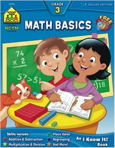 School Zone Workbooks Math Basics Grade 3