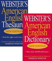 Webster's American English Thesaurus & Dictionary, 2v Set