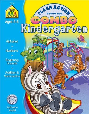 School Zone Combo Kindergarten Flash Action Ages 5-6