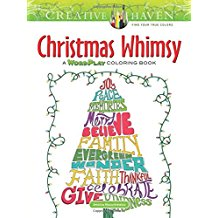 Creative Haven Christmas Whimsy: A WordPlay Coloring Book (Adult Coloring)
