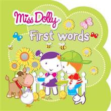Miss Dolly First Words: Colour to Copy, Stickers, Shaped Book