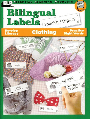 Bilingual Labels - Clothes Spanish/English