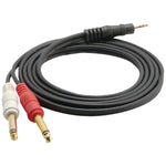 Pyle Pro 12-gauge 3.5mm Male Stereo To Dual 1 And 4'' Male Mono Y-cable Adapter 6ft