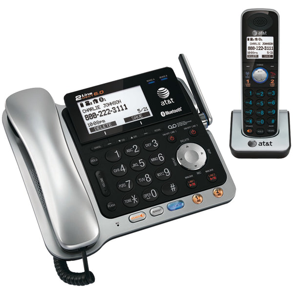 Att Dect 6.0 2-line Connect-to-cell Corded And Cordless Bluetooth Phone System (corded Base System & Single Handset )