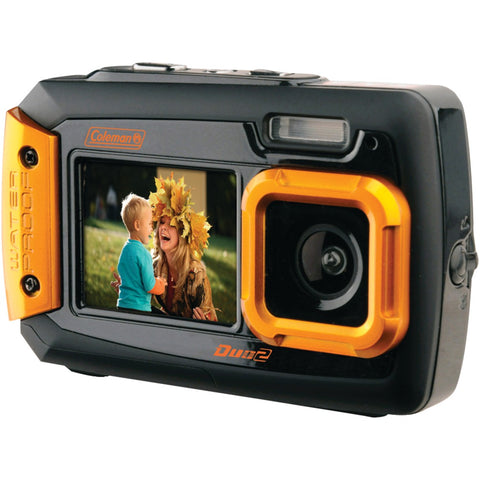 Coleman 20.0-megapixel Duo2 Dual-screen Waterproof Digital Camera (orange)