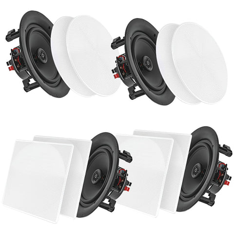 "Pyle Home 8"" Bluetooth Ceiling And Wall Speakers 4 Pk"